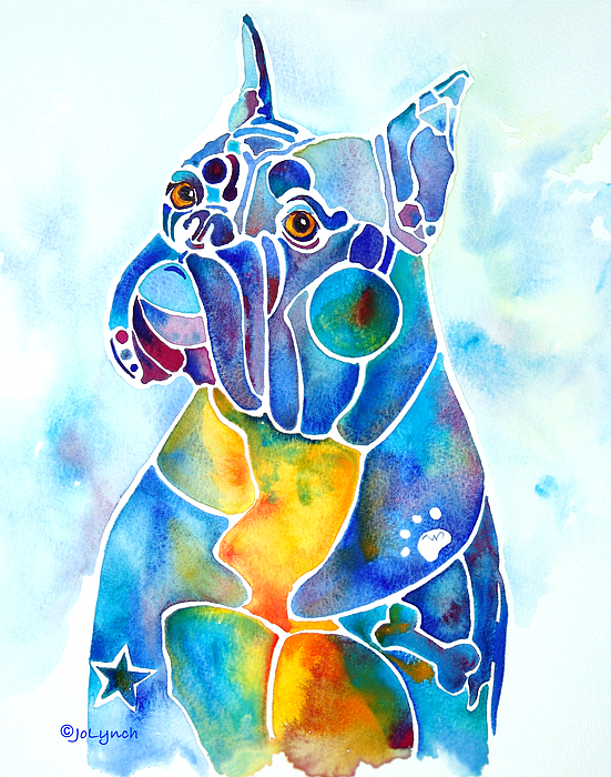 Boxer Dog Breed Blues by Jo Lynch